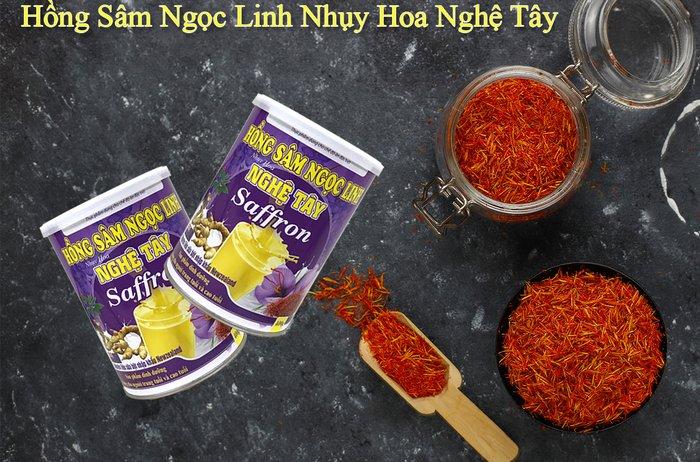 Hồng sâm Ngọc Linh nhụy hoa nghệ tây Saffron - món quà dinh dưỡng cho người cao tuổi